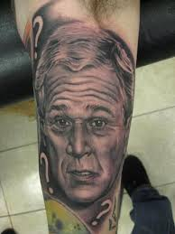 George W. Bush american president tattoo