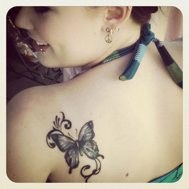 3a82b6ab148d1 Girl shoulder butterfly tattoo -   TattooMagz › Tattoo Designs / Ink ...