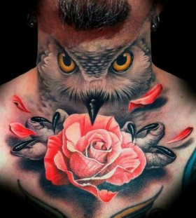 Gorgeous men's owl tattoo