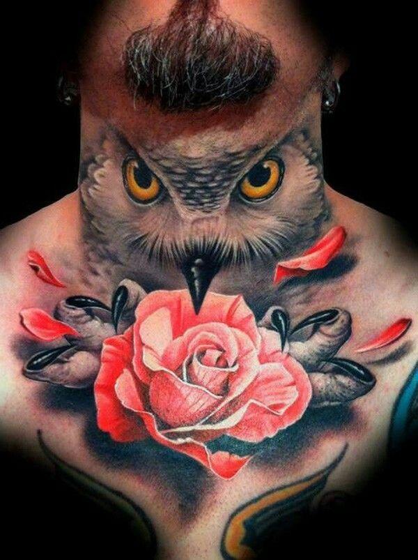 cce9c8921d36f Gorgeous men's owl tattoo - | TattooMagz › Tattoo Designs / Ink ...