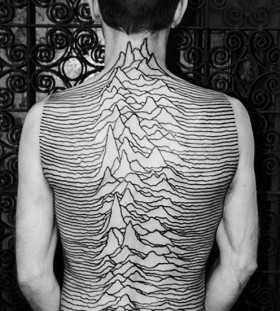 Gorgeous mountains lines tattoo