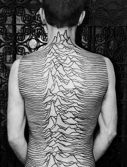 Gorgeous mountains lines tattoo