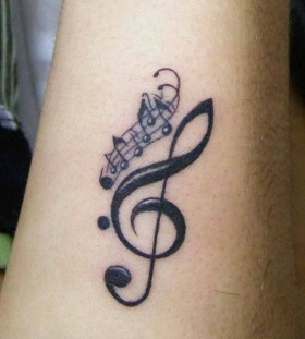 Great music style tattoo