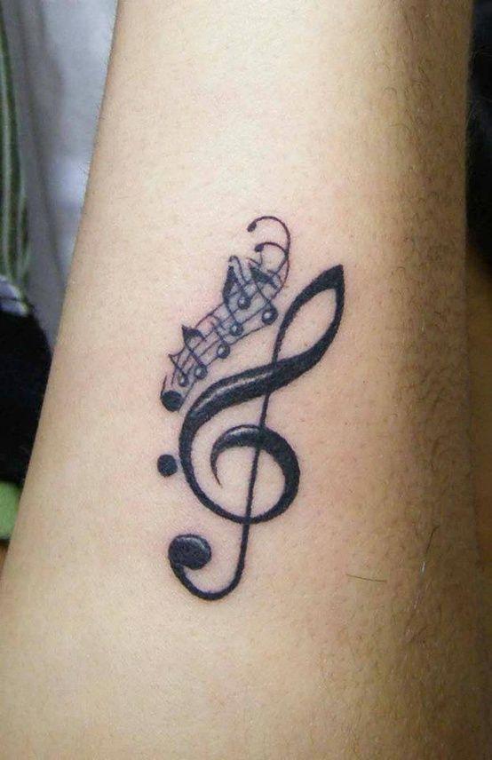 Great music style tattoo