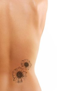 Great sunflower tattoo