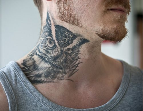 Great wings owl tattoo