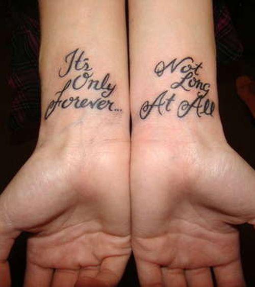 Hand quote tattoo
