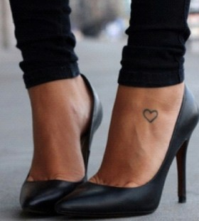 Heart awesome foot tattoo