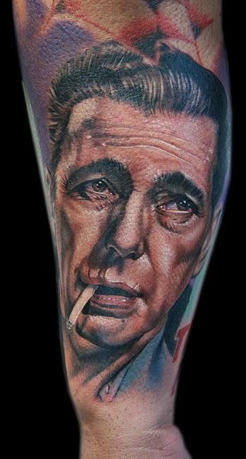 Humphrey Bogart famous people tattoo