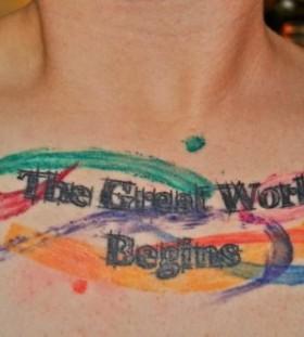 Incredible american style tattoo