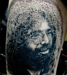 Jerry Garcia famous people portrait tattoo