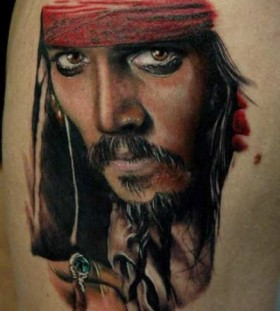 Johny Depp famous people portrait tattoo