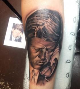 Kennedy american president tattoo