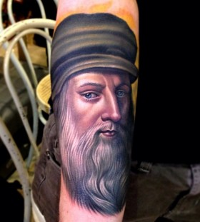 Leonardo Da Vinci famous people tattoo