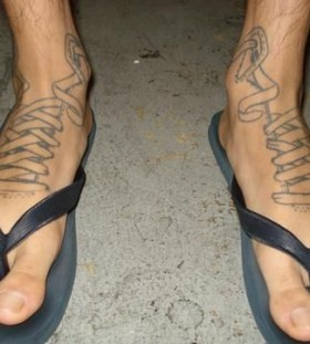 Lovely man foot tattoo