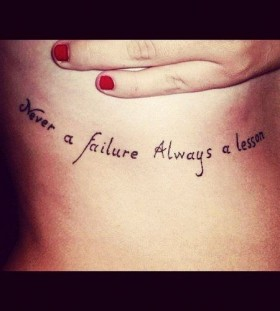 Lovely quote tattoo