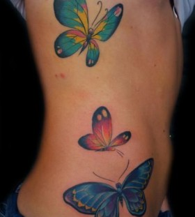 Lovely summer butterfly tattoo