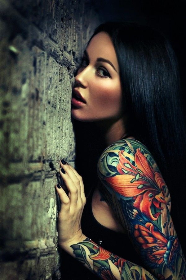 Lovely woman girl tattoo