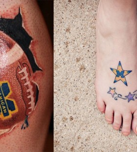 Man football tattoo