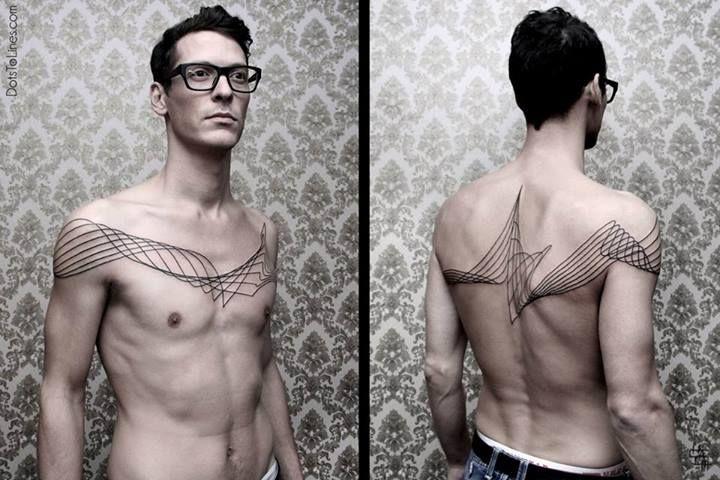 Man simple tattoo by Chaim Machlev