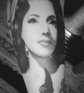 Maria Victoria famous people portrait tattoo