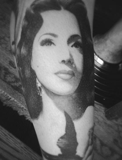 Maria Victoria famous people portrait tattoo