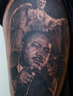Martin Luther King famous people portrait tattoo