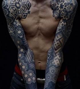Men sleeve cool tattoo