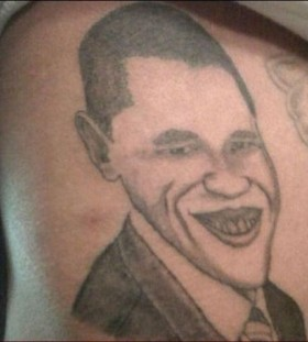 Not realistic american president tattoo