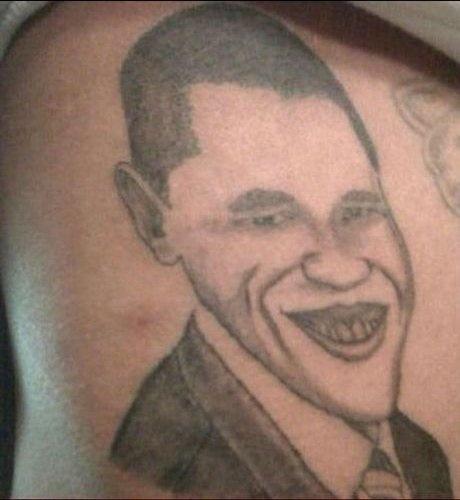 Not realistic american president tattoo