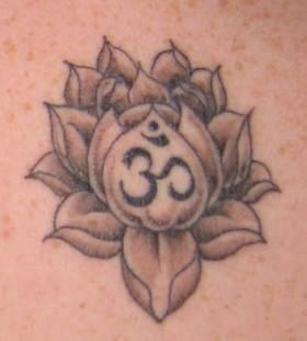 Numbers and lotus flower tattoo
