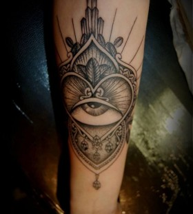 Ornaments and eye tattoo