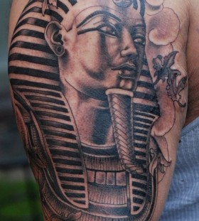 Pharaoh Egypt style tattoo