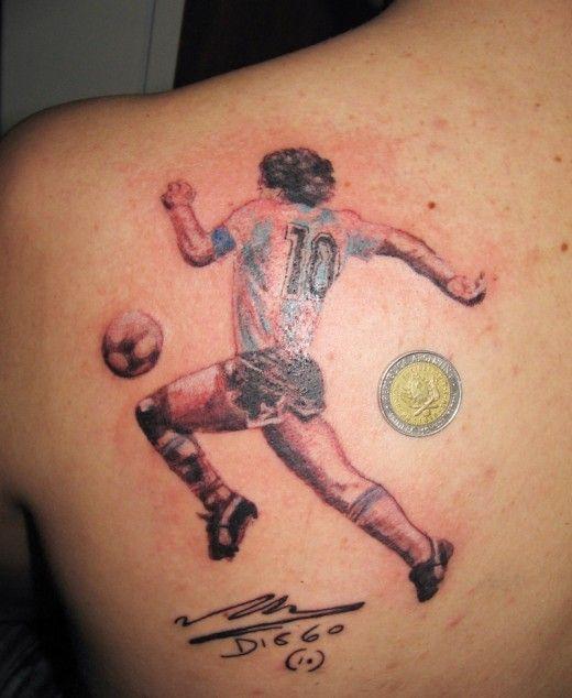Player football tattoo