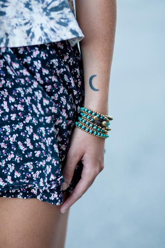Pretty girl moon tattoo