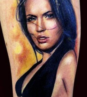 Pretty woman tattoo by Adam Kremer