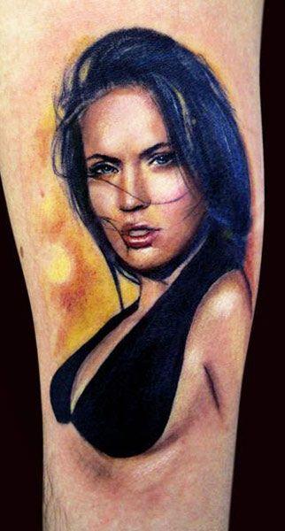 Pretty woman tattoo by Adam Kremer