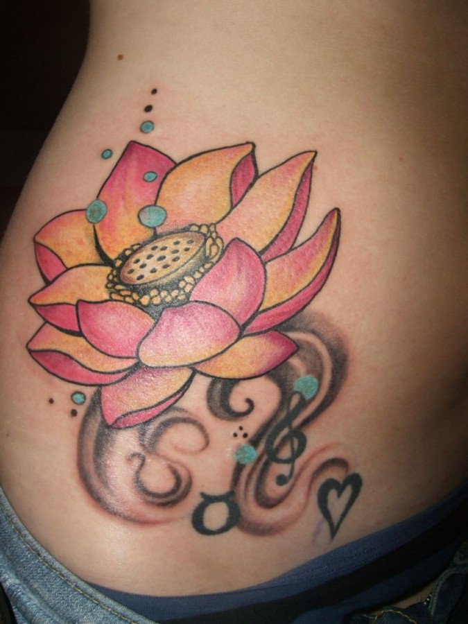 Red And Yellow Lotus Flower Tattoo Tattoomagz Tattoo Designs