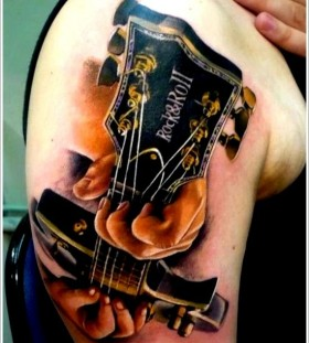Rock&Roll guitar tattoo
