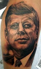 Simple John Kennedy american president tattoo