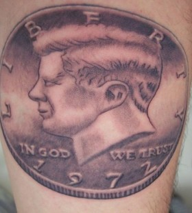 Simple Kennedy american president tattoo