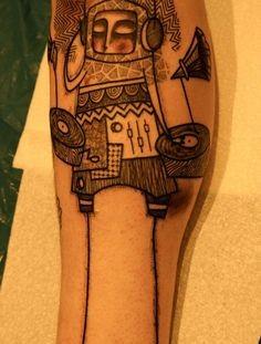 Simple man lines tattoo