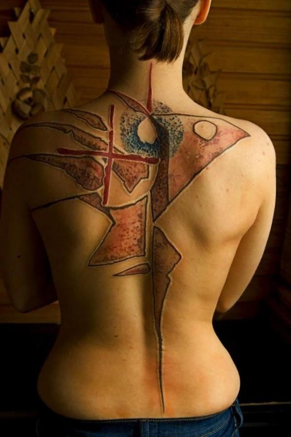 Simple red tattoo by Grisha Maslov