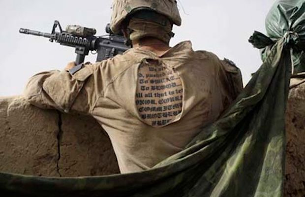 Soldier military style tattoos