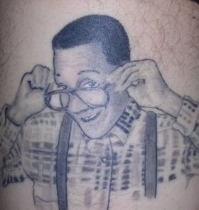 Steve Urkel famous people tattoo