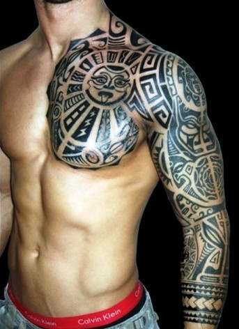 Stron Mens Tribal Tattoo Tattoomagz Tattoo Designs