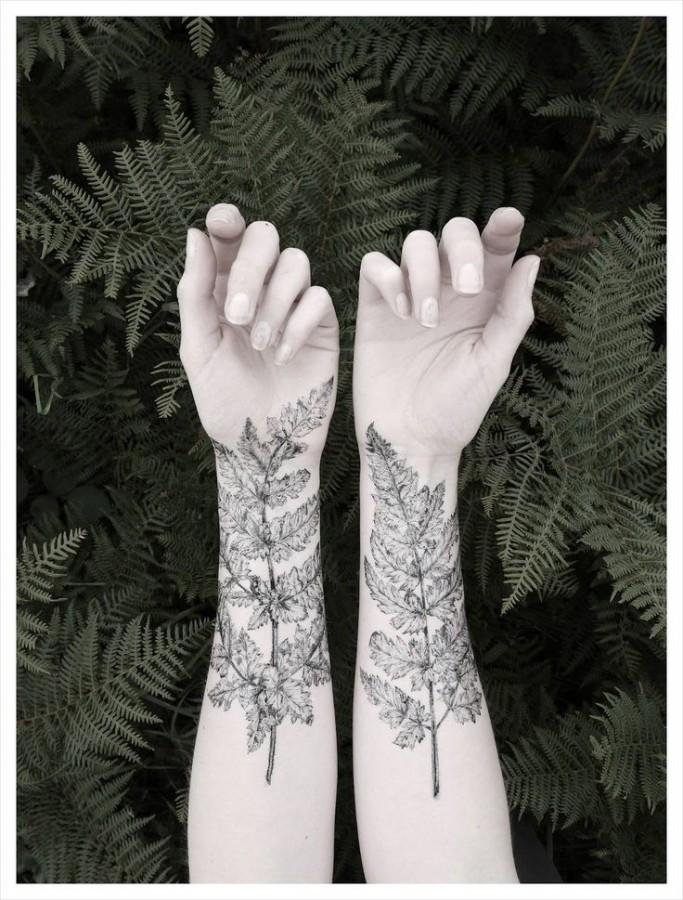 Tree and leaf tattoo