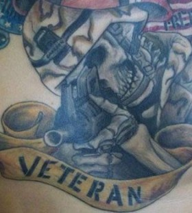 Veteran military style tattoos