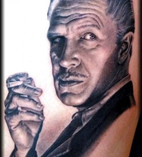 Vincent Price famous people portrait tattoo