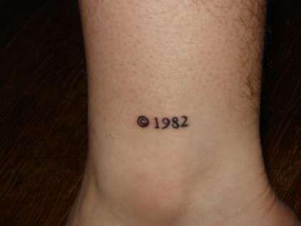 1982 numbers ornaments tattoo